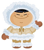 Miúdo Eskimo ilustração royalty free