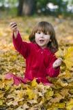 Miúdo feliz no parque Imagens de Stock Royalty Free