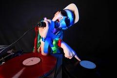 Miúdo fresco DJ Imagens de Stock Royalty Free