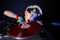 Miúdo fresco DJ Imagem de Stock