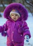 Miúdo no inverno Fotografia de Stock