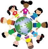 Miúdos 1 do mundo Imagens de Stock Royalty Free