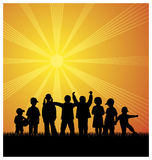 Miúdos 3 ao ar livre Foto de Stock Royalty Free