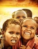 Miúdos africanos Fotos de Stock