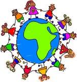 Miúdos africanos ilustração royalty free