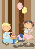Miúdos agradáveis dos desenhos animados Imagem de Stock