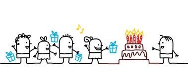 Miúdos & aniversário ilustração do vetor