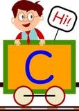 Miúdos & série do trem - C ilustração do vetor