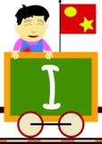 Miúdos & série do trem - I ilustração stock