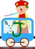 Miúdos & série do trem - J ilustração royalty free