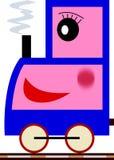 Miúdos & série do trem - menina ilustração stock