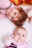 Miúdos bonitos com brinquedos imagens de stock royalty free