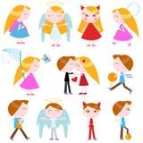Miúdos bonitos dos desenhos animados Foto de Stock