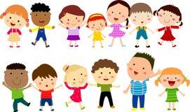 Miúdos bonitos dos desenhos animados Imagem de Stock Royalty Free