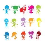 Miúdos coloridos Imagens de Stock