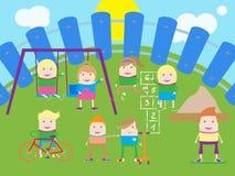 Miúdos com placa Imagem de Stock