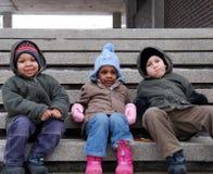 Miúdos da cidade imagens de stock