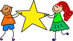 Miúdos da estrela ilustração stock