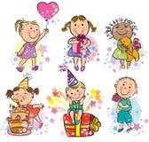 Miúdos da ilustração que comemoram Imagem de Stock Royalty Free
