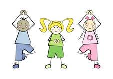 Miúdos da ioga Foto de Stock