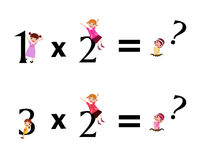 Miúdos da matemática Fotografia de Stock