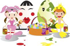 Miúdos de Easter Fotografia de Stock