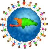 Miúdos de Haiti ilustração royalty free