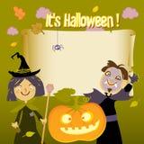 Miúdos de Halloween Fotografia de Stock