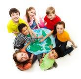 Miúdos de pelo mundo inteiro Foto de Stock