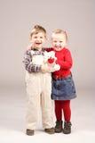 Miúdos de sorriso Fotos de Stock Royalty Free