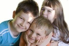 Miúdos de sorriso Foto de Stock Royalty Free