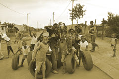 Miúdos de Soweto em África do Sul Fotografia de Stock Royalty Free