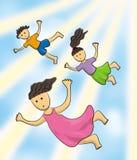 Miúdos do céu Foto de Stock