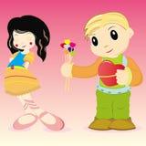 Miúdos do dia do `s do Valentim Imagens de Stock