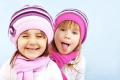 Miúdos do inverno Fotografia de Stock