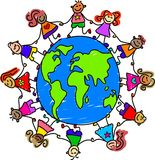Miúdos do mundo ilustração do vetor