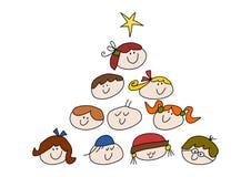 Miúdos do Natal Imagens de Stock