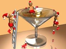 miúdos do Natal 3D que comemoram Imagens de Stock Royalty Free