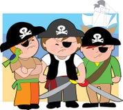 Miúdos do pirata das Caraíbas Foto de Stock Royalty Free
