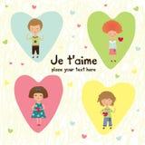 Miúdos do Valentim Imagem de Stock