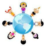 Miúdos dos desenhos animados Foto de Stock Royalty Free