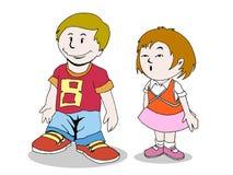 Miúdos dos desenhos animados ilustração do vetor