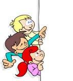 Miúdos e bandeira Imagens de Stock