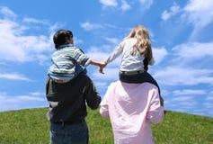 Miúdos e pais imagens de stock