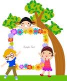 Miúdos e quadro Fotografia de Stock