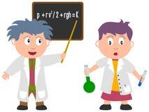 Miúdos e trabalhos - ciência ilustração do vetor