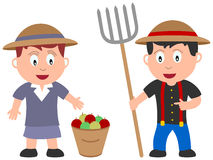 Miúdos e trabalhos - fazendeiros