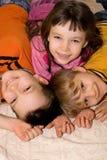 Miúdos em casa Foto de Stock Royalty Free