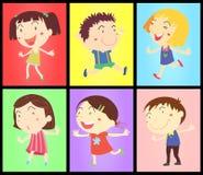 Miúdos em cores ilustração do vetor