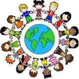 Miúdos em torno do mundo Imagem de Stock